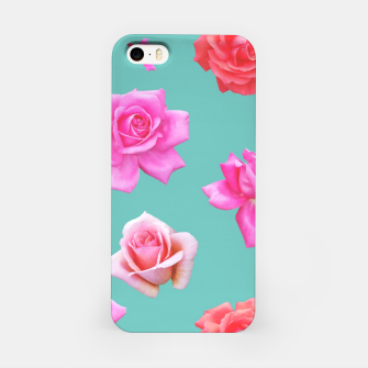 Thumbnail image of Pink Roses on Aqua iPhone Case, Live Heroes