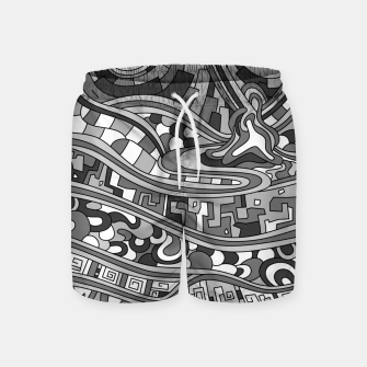 Thumbnail image of Wandering 03: grayscale Swim Shorts, Live Heroes