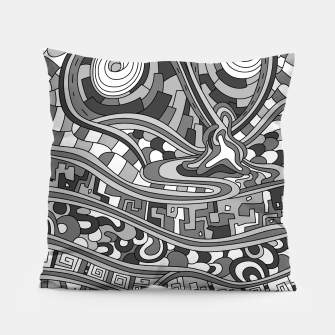Thumbnail image of Wandering 03: grayscale Pillow, Live Heroes