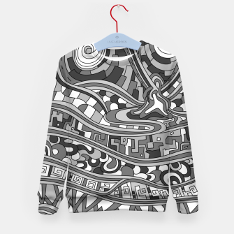 Thumbnail image of Wandering 03: grayscale Kid's sweater, Live Heroes