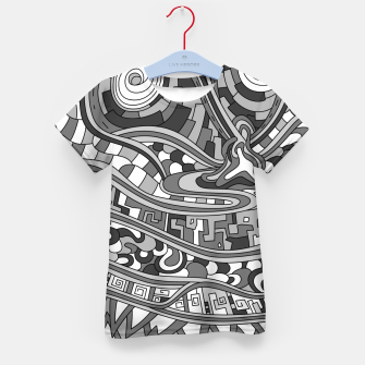 Thumbnail image of Wandering 03: grayscale Kid's t-shirt, Live Heroes