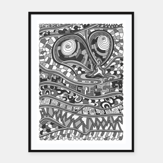 Thumbnail image of Wandering 03: grayscale Framed poster, Live Heroes