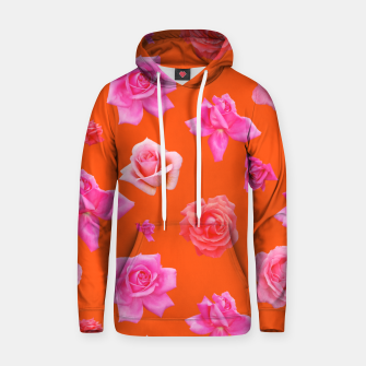Thumbnail image of Pink Roses on Orange Hoodie, Live Heroes
