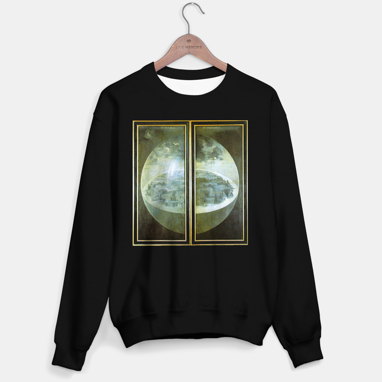 Foto Fashion and decor items of Hieronymus Bosch painting The Creation of the World - The exterior shutters of The Garden of Earthly Delights Sweater regular - Live Heroes