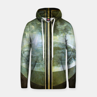 Fashion and decor items of Hieronymus Bosch painting The Creation of the World - The exterior shutters of The Garden of Earthly Delights Hoodie Bild der Miniatur