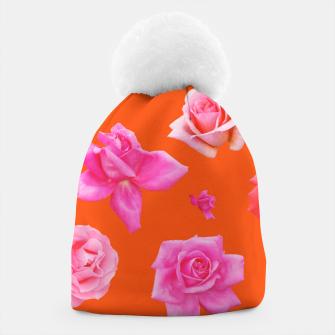 Thumbnail image of Pink Roses on Orange Beanie, Live Heroes