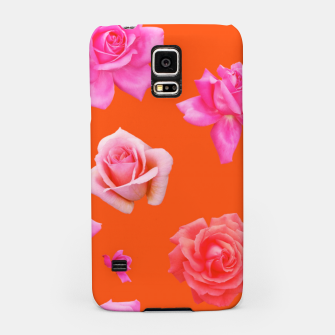 Thumbnail image of Pink Roses on Orange Samsung Case, Live Heroes