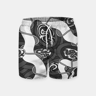 Thumbnail image of Wandering 04: grayscale Swim Shorts, Live Heroes