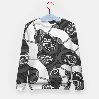 Thumbnail image of Wandering 04: grayscale Kid's sweater, Live Heroes