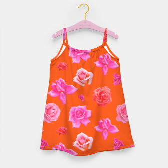 Thumbnail image of Pink Roses on Orange Girl's dress, Live Heroes