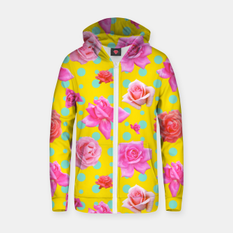 Thumbnail image of Pop of Colour Zip up hoodie, Live Heroes