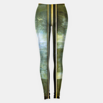 Fashion and decor items of Hieronymus Bosch painting The Creation of the World - The exterior shutters of The Garden of Earthly Delights Leggings Bild der Miniatur