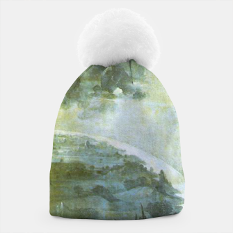 Fashion and decor items of Hieronymus Bosch painting The Creation of the World - The exterior shutters of The Garden of Earthly Delights Beanie Bild der Miniatur