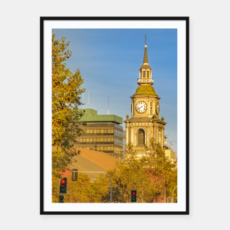 Thumbnail image of San Francisco de Alameda Church, Santiago de Chile Framed poster, Live Heroes