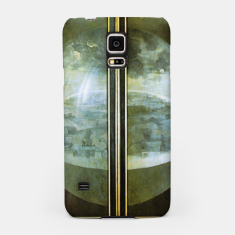 Fashion and decor items of Hieronymus Bosch painting The Creation of the World - The exterior shutters of The Garden of Earthly Delights Samsung Case Bild der Miniatur