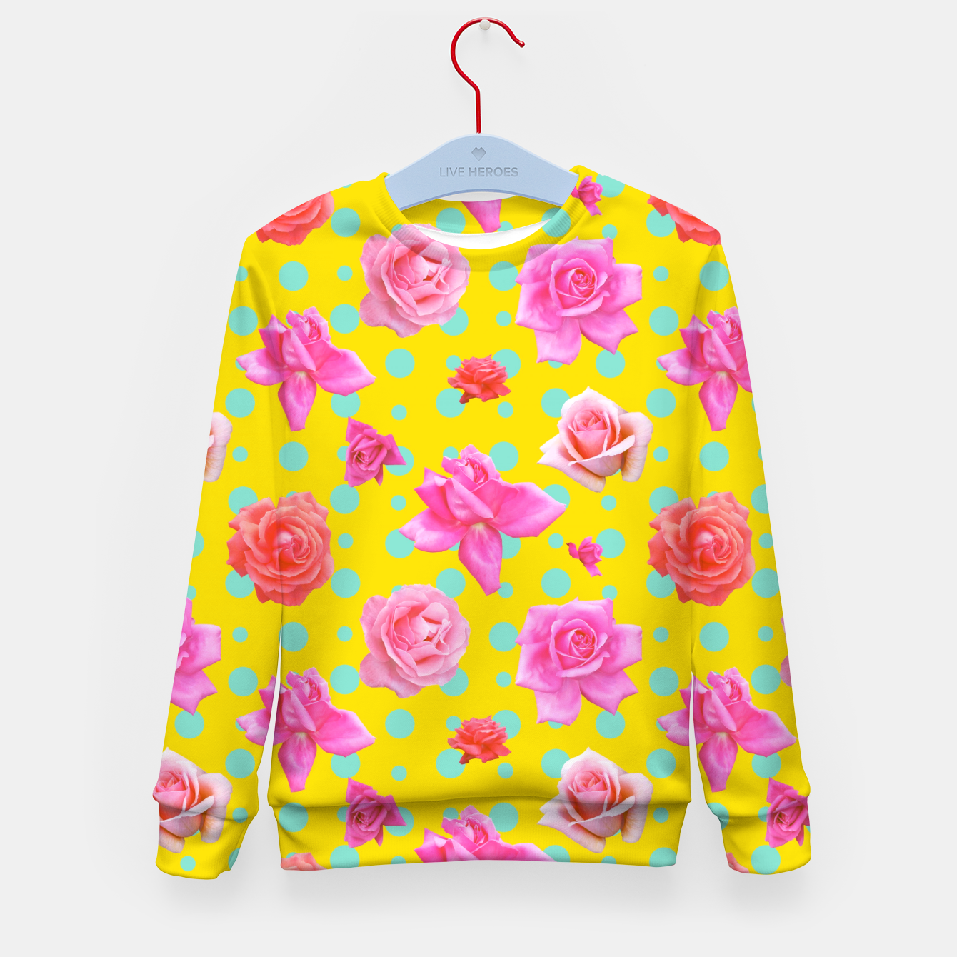 Image of Pop of Colour Kid's sweater - Live Heroes