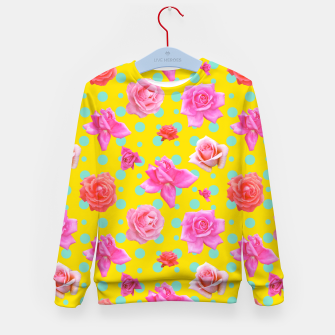 Thumbnail image of Pop of Colour Kid's sweater, Live Heroes