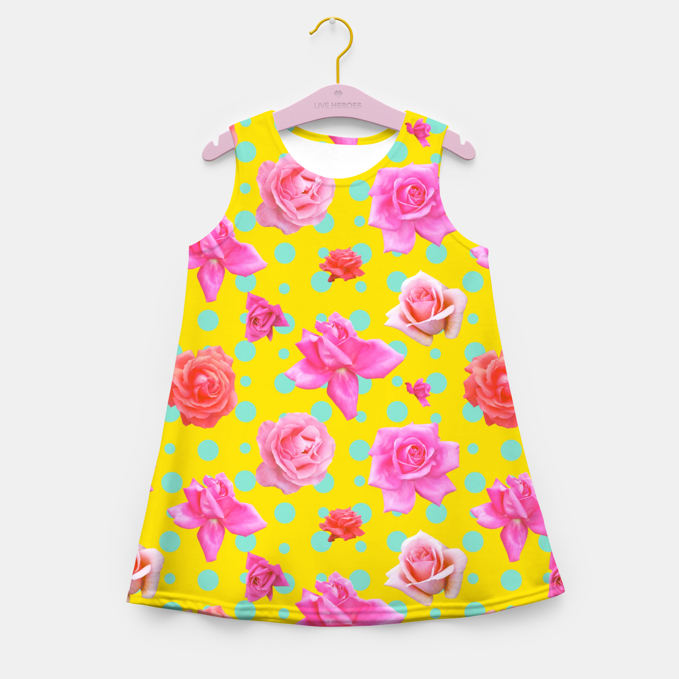 Image of Pop of Colour Girl's summer dress - Live Heroes