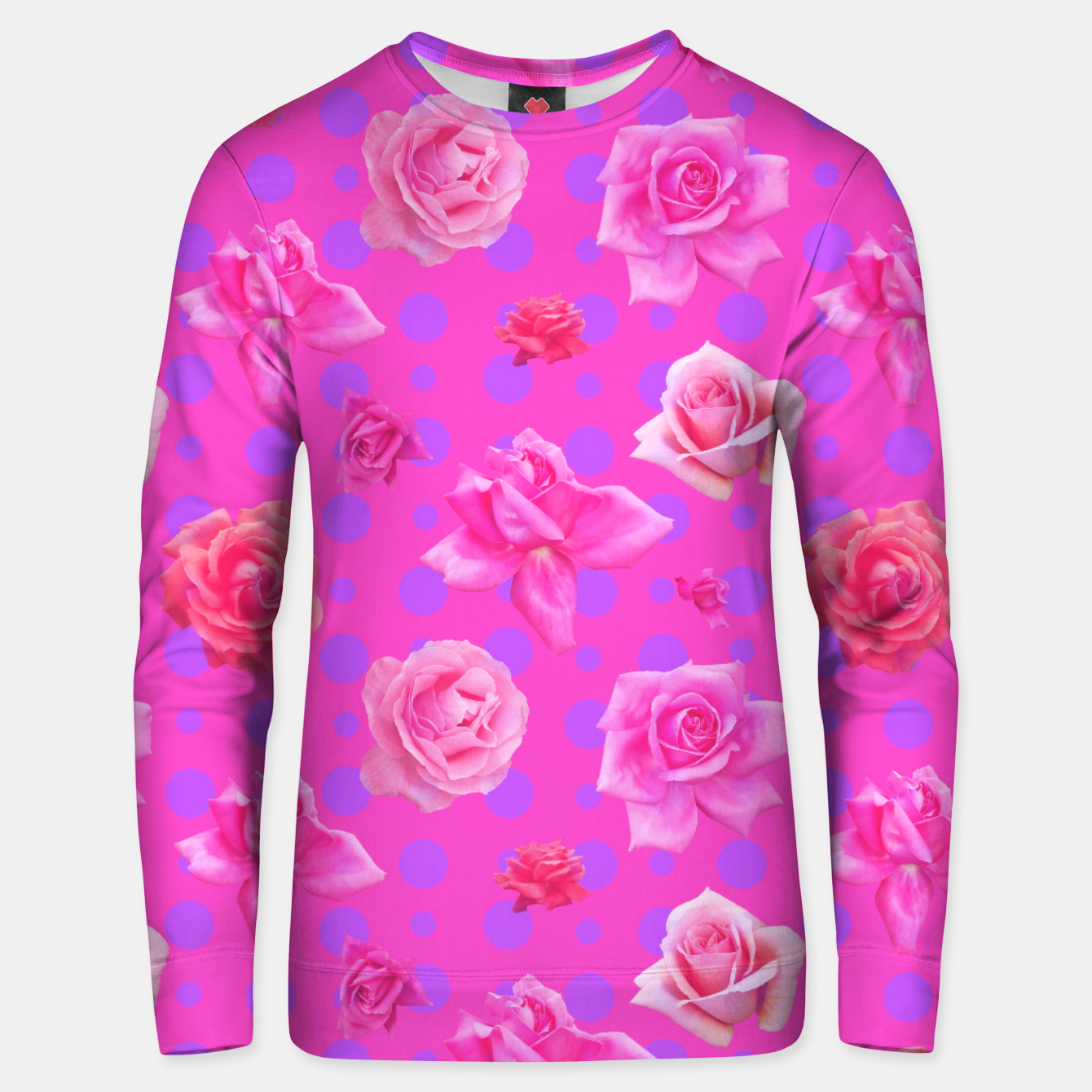 Image of Pop of Pink Unisex sweater - Live Heroes