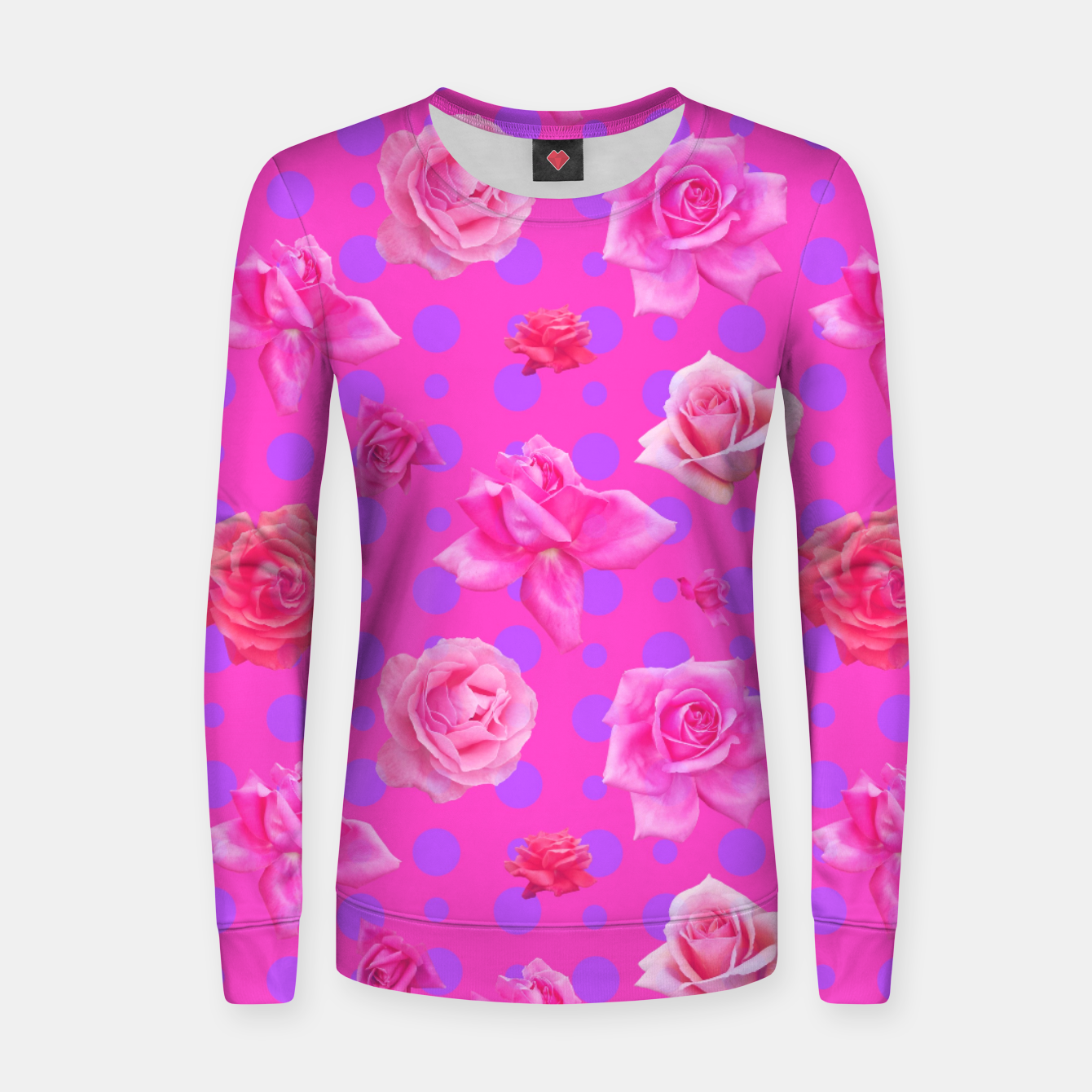 Image of Pop of Pink Women sweater - Live Heroes