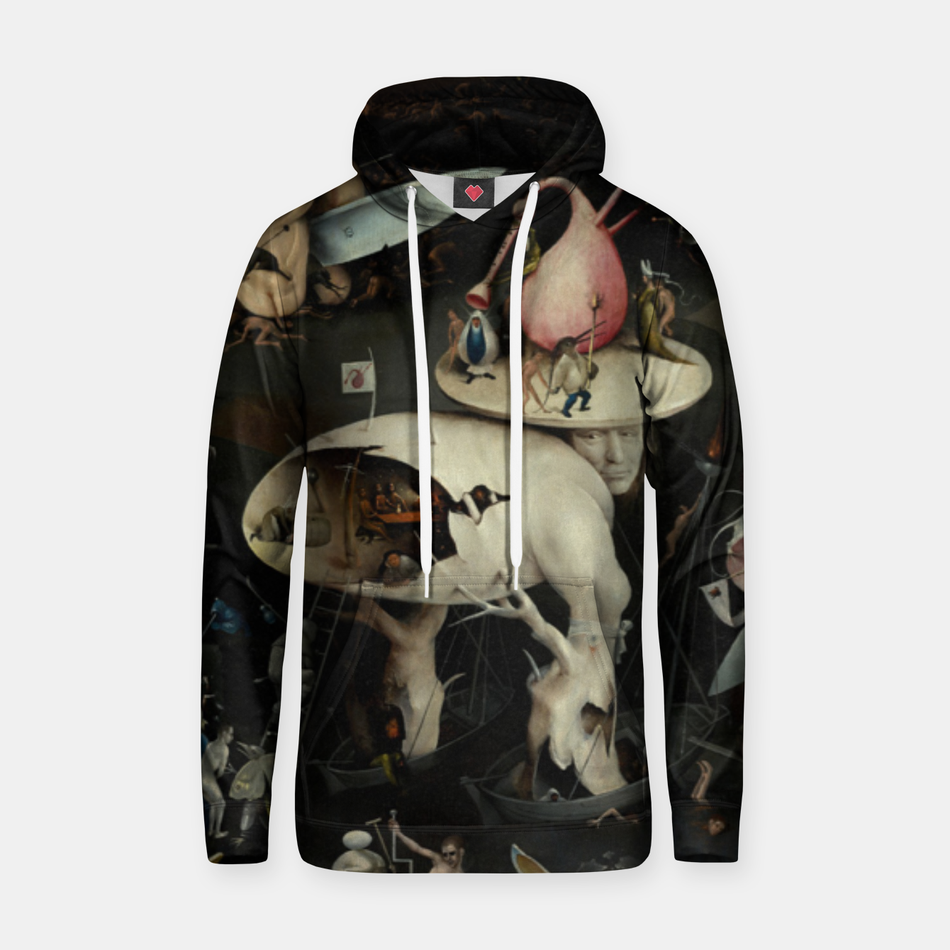 Foto Fashion and decor items from Hieronymus Bosch painting of Hell from the triptych Garden of Earthly Delights Hoodie - Live Heroes
