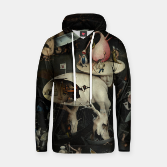 Fashion and decor items from Hieronymus Bosch painting of Hell from the triptych Garden of Earthly Delights Hoodie obraz miniatury