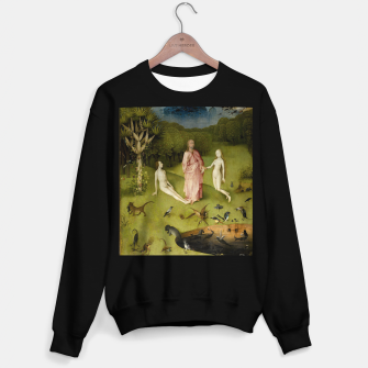 Miniatur Fashion and Decor items of Hieronymus Bosch painting, Eden from the triptych Garden of Earthly Delights Sweater regular, Live Heroes