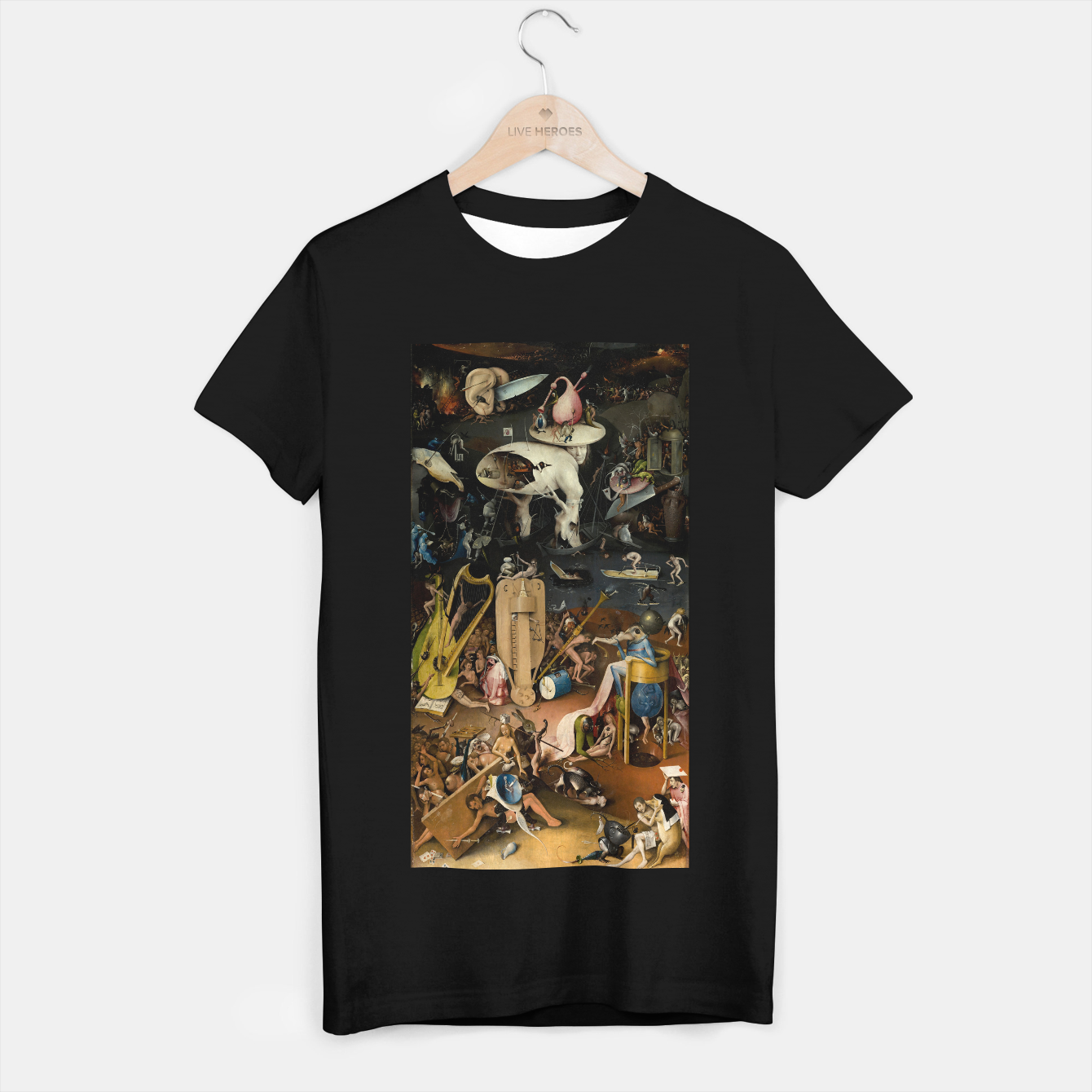 Zdjęcie Fashion and decor items from Hieronymus Bosch painting of Hell from the triptych Garden of Earthly Delights T-shirt regular - Live Heroes