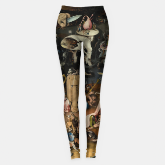 Fashion and decor items from Hieronymus Bosch painting of Hell from the triptych Garden of Earthly Delights Leggings Bild der Miniatur