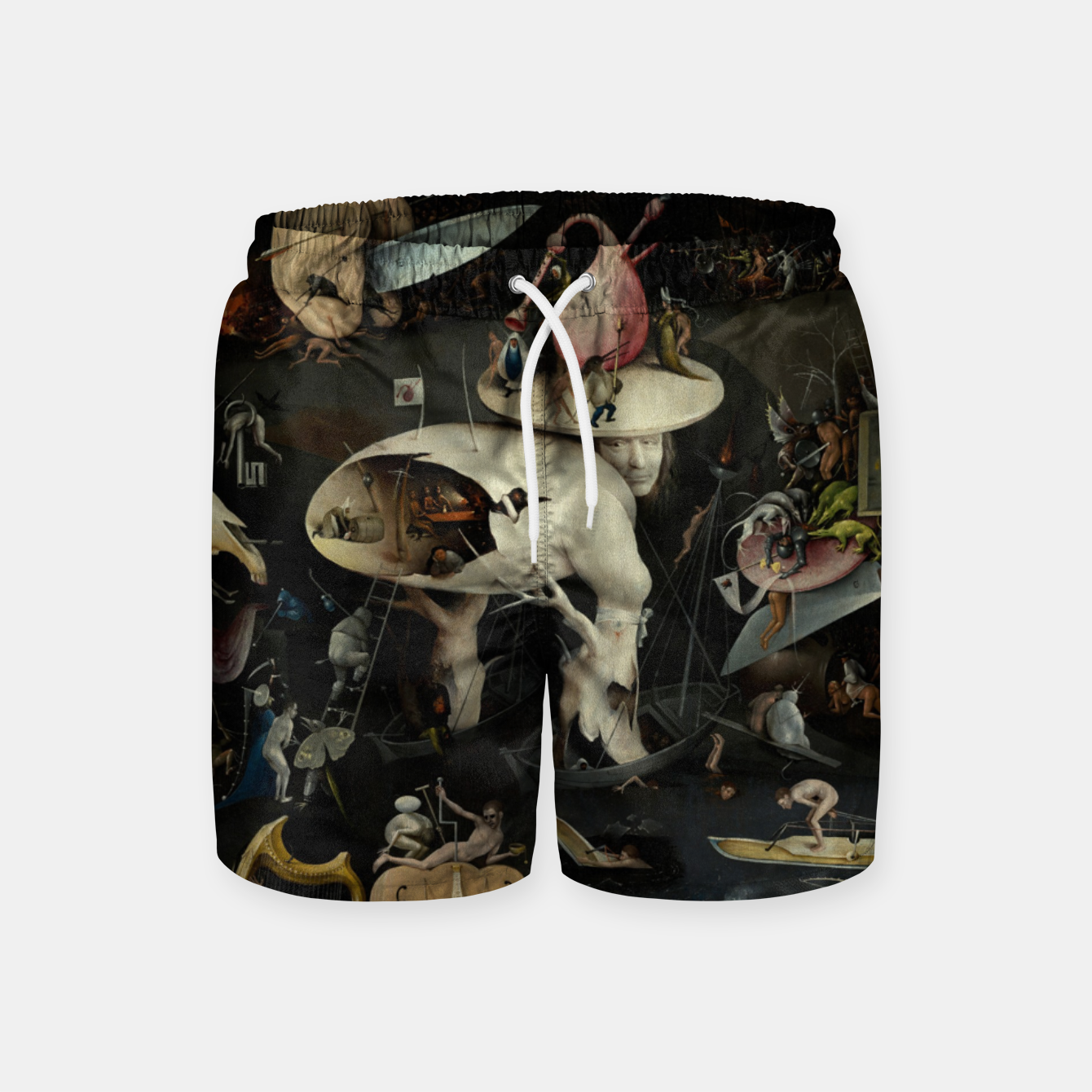 Foto Fashion and decor items from Hieronymus Bosch painting of Hell from the triptych Garden of Earthly Delights Swim Shorts - Live Heroes
