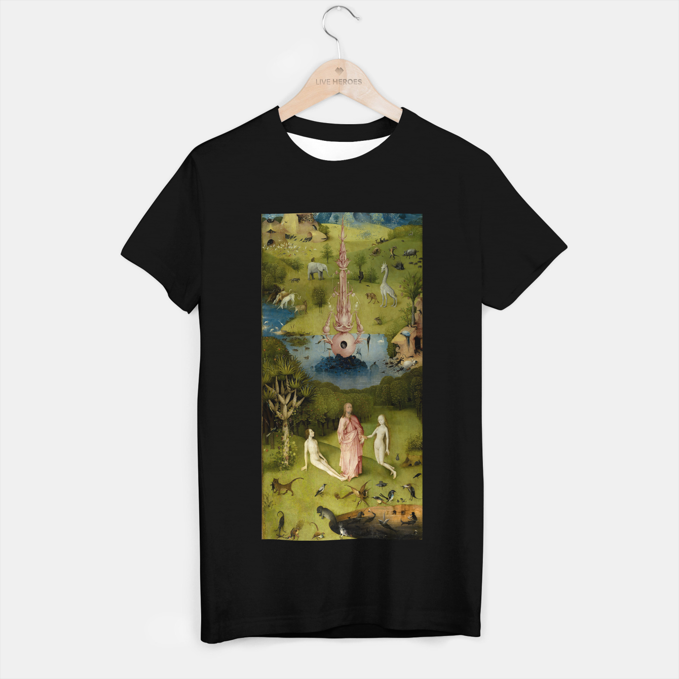 Foto Fashion and Decor items of Hieronymus Bosch painting, Eden from the triptych Garden of Earthly Delights T-shirt regular - Live Heroes