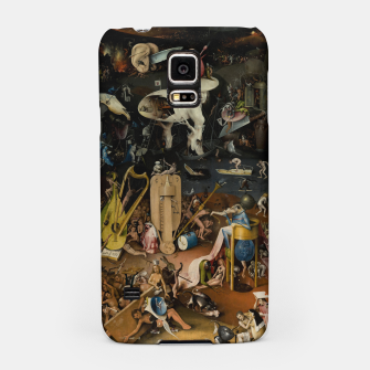 Fashion and decor items from Hieronymus Bosch painting of Hell from the triptych Garden of Earthly Delights Samsung Case Bild der Miniatur