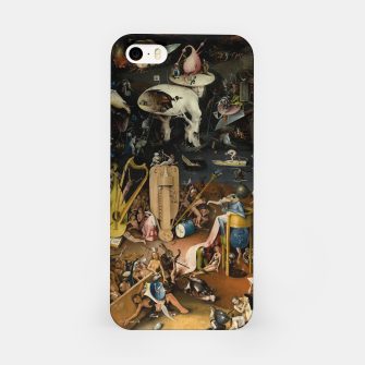 Fashion and decor items from Hieronymus Bosch painting of Hell from the triptych Garden of Earthly Delights iPhone Case Bild der Miniatur