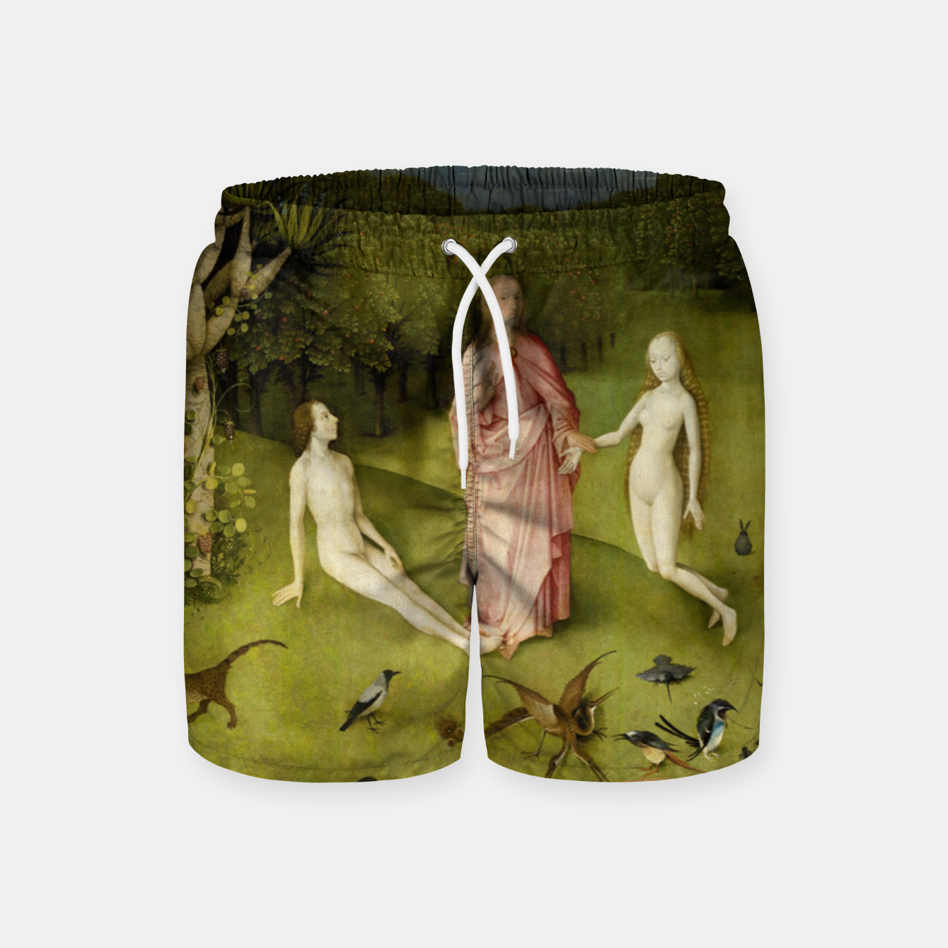 Zdjęcie Fashion and Decor items of Hieronymus Bosch painting, Eden from the triptych Garden of Earthly Delights Swim Shorts - Live Heroes