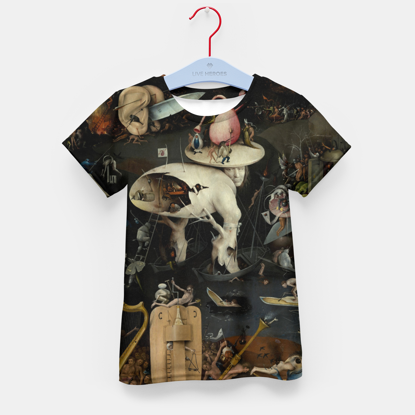 Zdjęcie Fashion and decor items from Hieronymus Bosch painting of Hell from the triptych Garden of Earthly Delights Kid's t-shirt - Live Heroes