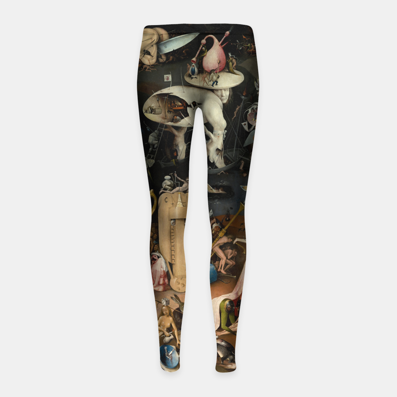 Foto Fashion and decor items from Hieronymus Bosch painting of Hell from the triptych Garden of Earthly Delights Girl's leggings - Live Heroes