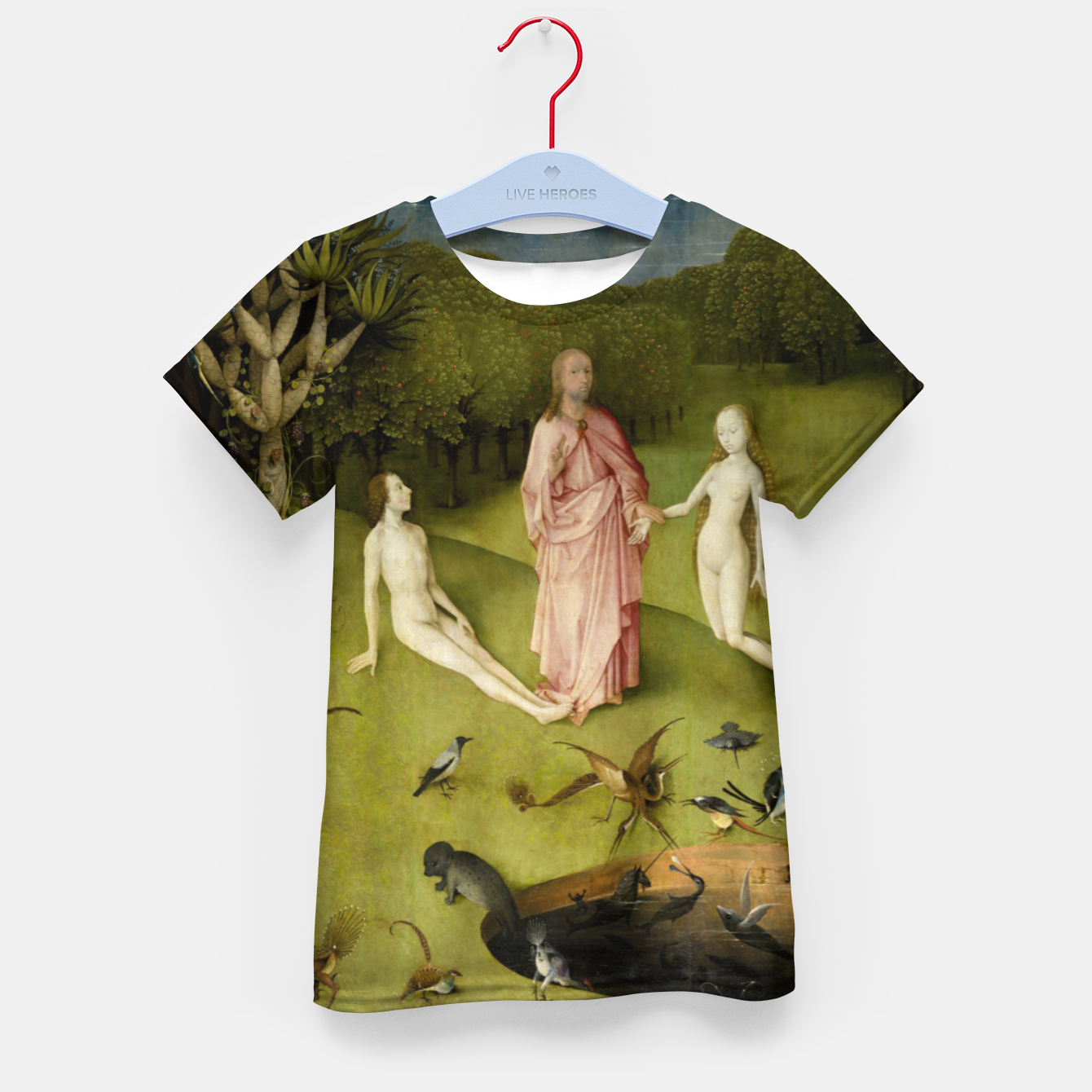 Foto Fashion and Decor items of Hieronymus Bosch painting, Eden from the triptych Garden of Earthly Delights Kid's t-shirt - Live Heroes