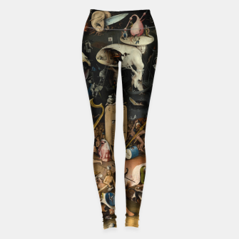 Thumbnail image of Fashion and decor items from Hieronymus Bosch painting of Hell from the triptych Garden of Earthly Delights Leggings, Live Heroes