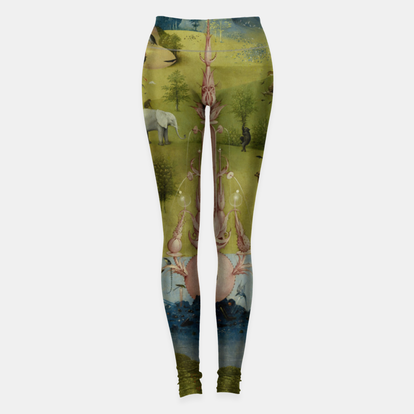 Foto Fashion and Decor items of Hieronymus Bosch painting, Eden from the triptych Garden of Earthly Delights Leggings - Live Heroes