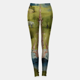 Thumbnail image of Fashion and Decor items of Hieronymus Bosch painting, Eden from the triptych Garden of Earthly Delights Leggings, Live Heroes