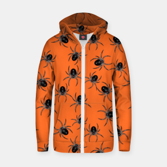 Thumbnail image of Creepy Spiders  Zip up hoodie, Live Heroes