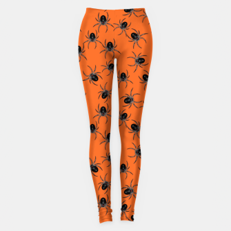 Thumbnail image of Creepy Spiders  Leggings, Live Heroes