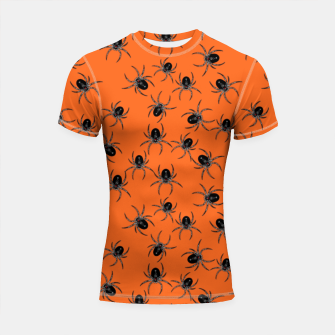 Thumbnail image of Creepy Spiders  Shortsleeve rashguard, Live Heroes