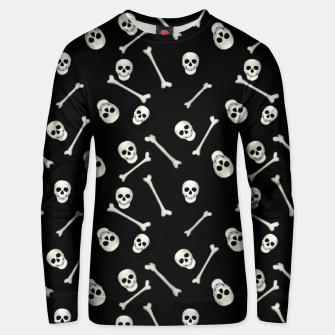 Miniatur Halloween Skull and bones Unisex sweater, Live Heroes