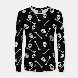 Miniatur Halloween Skull and bones Women sweater, Live Heroes