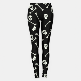 Miniatur Halloween Skull and bones Leggings, Live Heroes