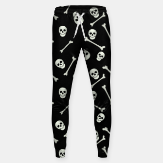 Miniatur Halloween Skull and bones Sweatpants, Live Heroes