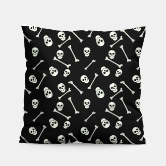 Miniatur Halloween Skull and bones Pillow, Live Heroes