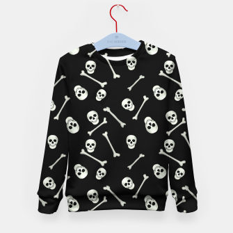 Imagen en miniatura de Halloween Skull and bones Kid's sweater, Live Heroes