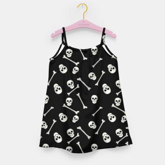 Miniatur Halloween Skull and bones Girl's dress, Live Heroes